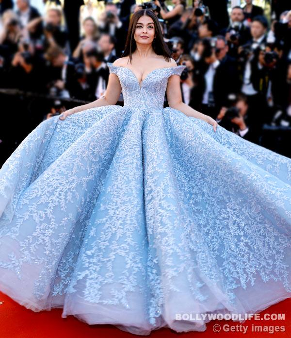 <p>She banished the idea that Cindrella only existed in fairy tales after stepping out in that blue gown in Cannes 2017. Aishwarya was a dream in that icy blue Michael Cinco gown and we loved the picture where Aaradhya is posing with her. The tiny tot was in a pink gown and they looked adorable. Ash is gowns means an Internet meltdown. </p>