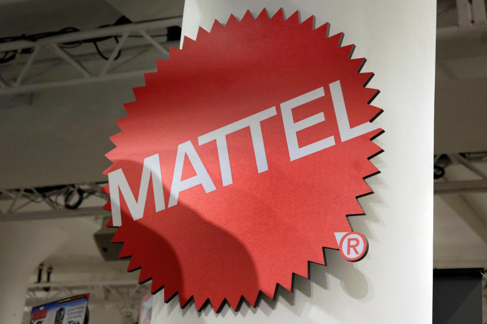 <p> FILE - This April 26, 2018, file photo shows the Mattel logo at the TTPM 2018 Spring Showcase in New York. Mattel says it will cut 2,200 jobs as the maker of Barbie dolls and Hot Wheels cars tries to save money. (AP Photo/Richard Drew, File) </p>