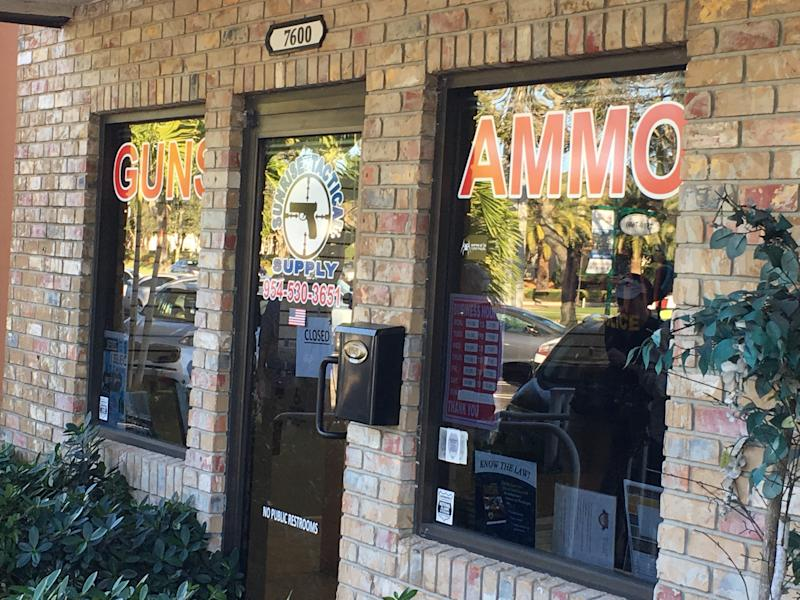 The gun store in Coral Springs, Florida, where Nikolas Cruz reportedly legally bought an AR-15 assault-style rifle. (Jonathan Cohn/HuffPost)