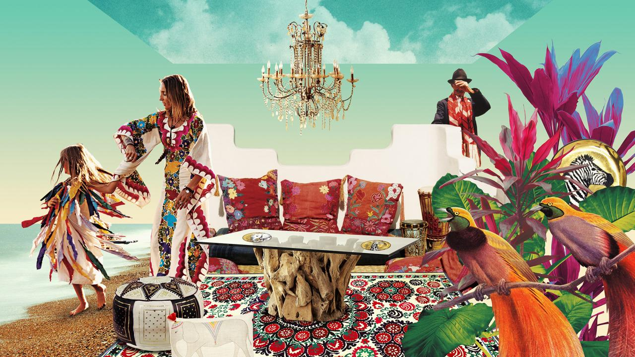 "<p>A medley of vintage and modern furniture and art, Oriental rugs, pillows, accessories, and colorful accents are all fair game in creating a bohemian-chic vibe—the rules are wide open. <i>Illustration by <a href=""http://www.julienpacaud.com/"">Julien Pacaud</a> for Yahoo Decor</i></p>"