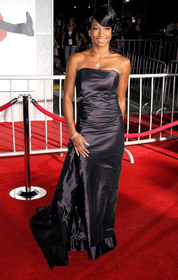 """Monique Coleman (aka Taylor McKessie) wows the crowd in a delicious black dress and sophisticated updo. Gregg DeGuire/<a href=""""http://www.wireimage.com"""" target=""""new"""">WireImage.com</a> - October 16, 2008"""