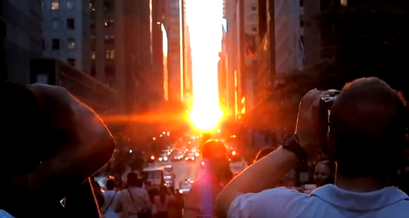 Clouds Cover NYC's Last Manhattanhenge Sunset of 2013