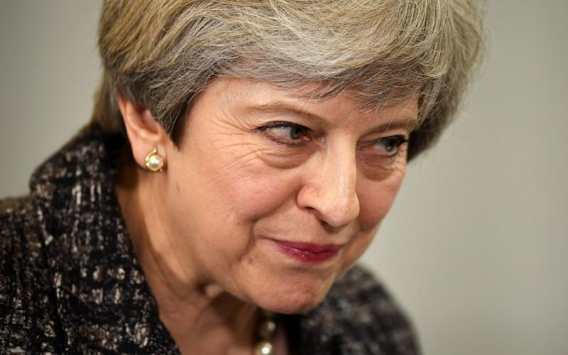 Theresa May looks curious - Credit: Leon Neal/Getty Images