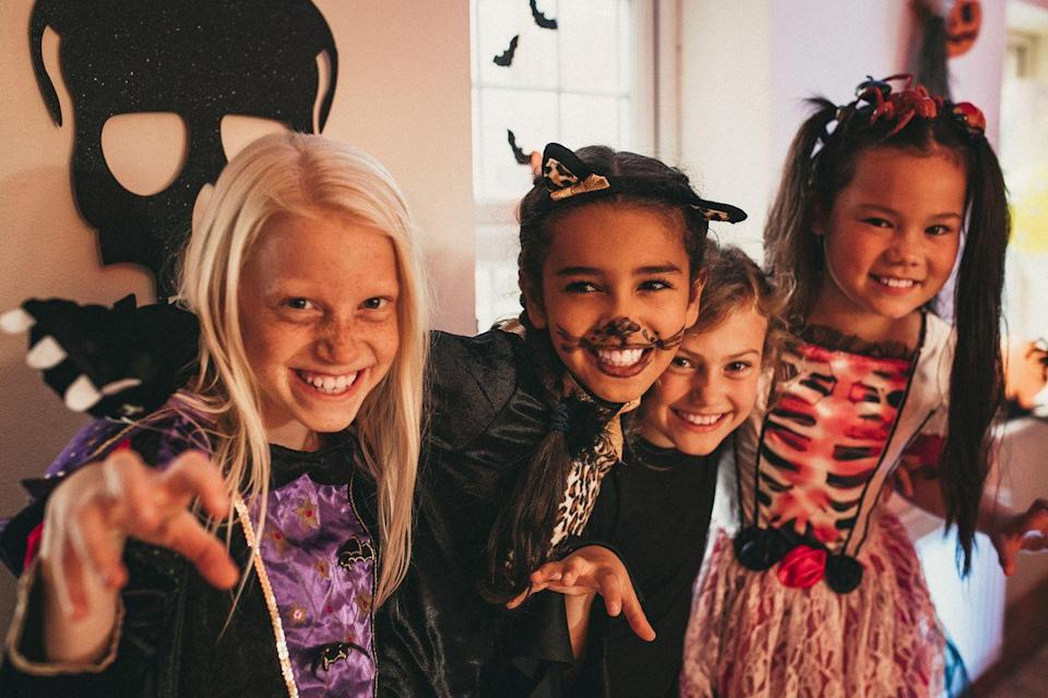 """<p>No matter how small your Halloween party is, it won't be complete without some festive tunes. Blast your favorites and have a dance party or play a game of freeze dance.</p><p><strong>RELATED:</strong> <a href=""""https://www.goodhousekeeping.com/holidays/halloween-ideas/a33593/halloween-songs/"""" rel=""""nofollow noopener"""" target=""""_blank"""" data-ylk=""""slk:50 Spooky Halloween Songs You Need at Your Costume Party"""" class=""""link rapid-noclick-resp"""">50 Spooky Halloween Songs You Need at Your Costume Party</a></p>"""
