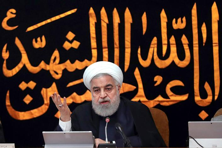 Iran's President Hassan Rouhani speaks during a cabinet meeting in Tehran, on Sept. 4, 2019