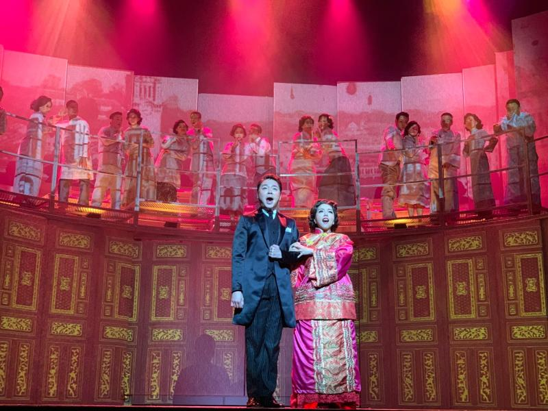 "Sebastian Tan and Audrey Luo in Stella Kon's ""Lim Boon Keng: The Musical"" on 10 October 2019 at Victoria Theatre. (Photo: Musical Theatre Ltd)"