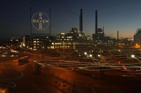 A plant belonging to Germany's largest drugmaker Bayer is seen in Leverkusen