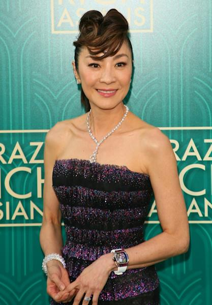Prospective mother-in-law Eleanor, played by Michelle Yeoh, provides all the hauteur