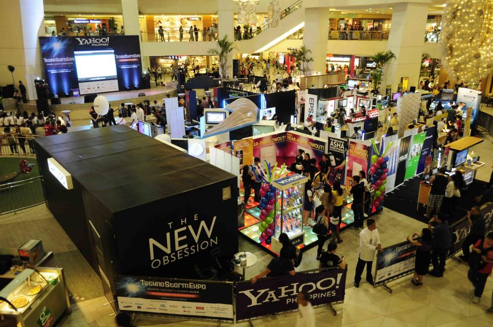 Yahoo! TechnoStorm Expo opens at the Trinoma Activity Center in Quezon City.