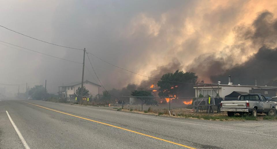 Smoke rises above the small western Canadian town of Lytton after wildfires forced its residents to evacuate, in Lytton, British Columbia, Canada June 30, 2021. Source: Reuters