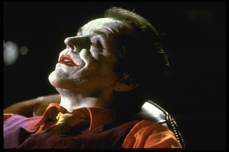 American actor Jack Nicholson plays the Joker in the movie Batman, directed by Tim Burton. (Photo by Murray Close/Sygma/Sygma via Getty Images)