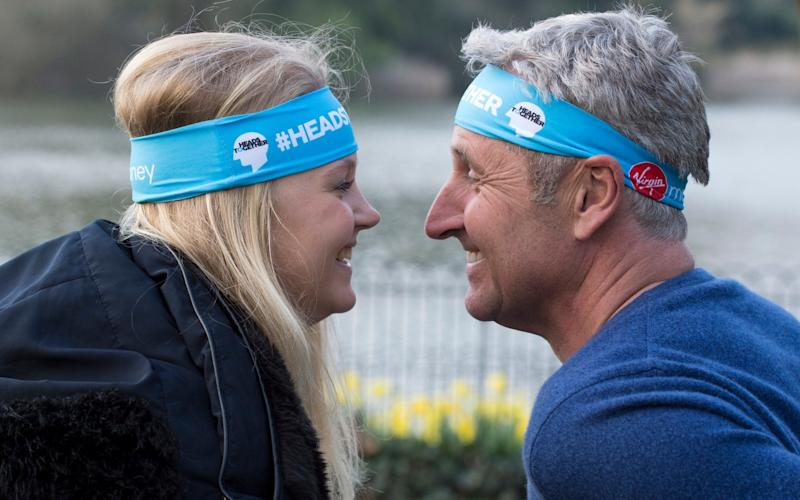 Newsreader Mark Austin discusses anorexia with his daughter Maddy as part of the Heads Together Charity. - Alan Walter 07976 659134 alwalter@btinternet.com