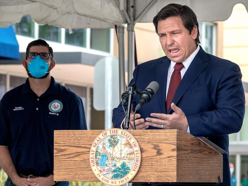 'Shame on you!': Florida governor heckled as coronavirus cases continue to spike in state ('Shame on you!': Florida governor heckled as coronavirus cases continue to spike in state)