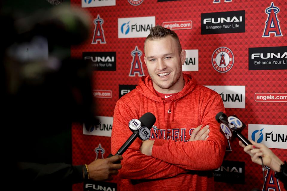 Mike Trout will consider offers from Angels, but only during offseason.