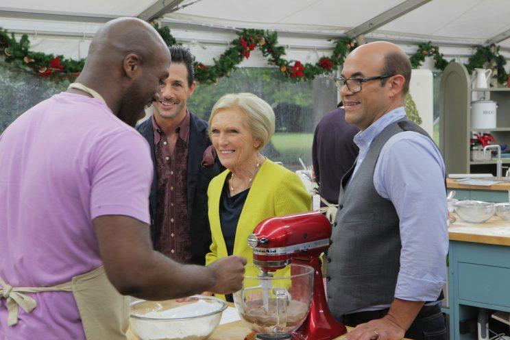 Courtney Carey, Ian Gomez, Mary Berry, and Johnny Luzzini (Credit: Mark Bourdillion/ABC)