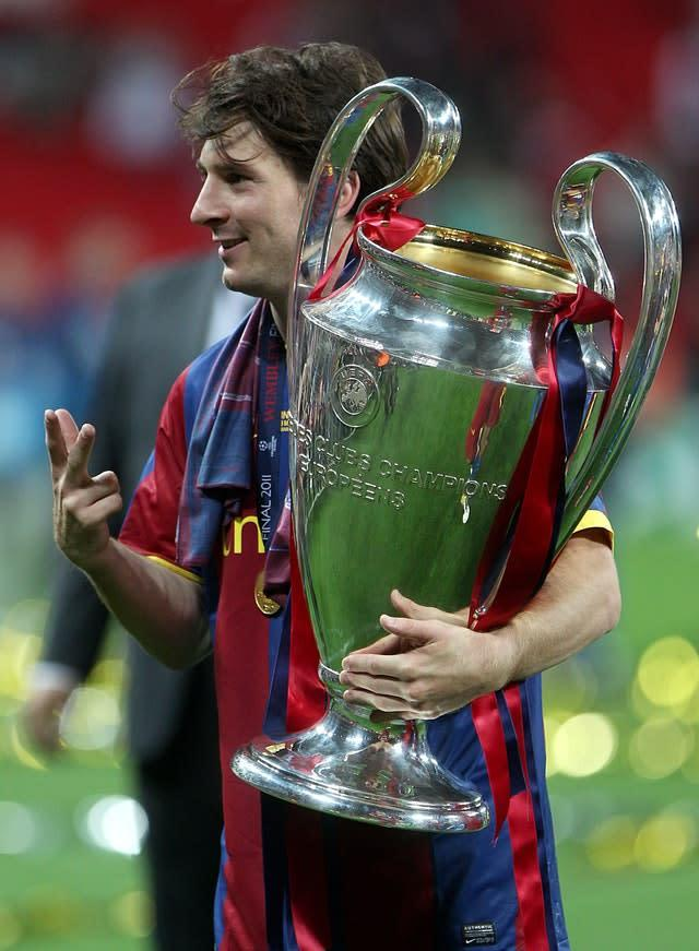 Lionel Messi has won the Champions League four times with Barcelona (Nick Potts/PA).