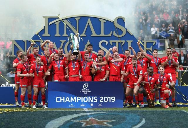 Saracens won the 2018-19 tournament, while the 2019-20 competition is yet to be completed