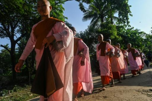 Buddhist child nuns from the Mingalar Thaikti nunnery in Myanmar were born in an area of eastern Shan state plagued by conflict between local rebel groups and the military