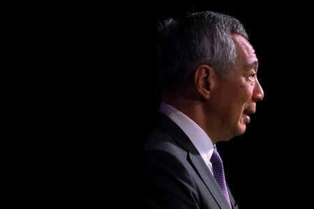 FILE PHOTO - Singapore's Prime Minister Lee Hsien Loong speaks at the ASEAN Business and Investment Summit in Singapore