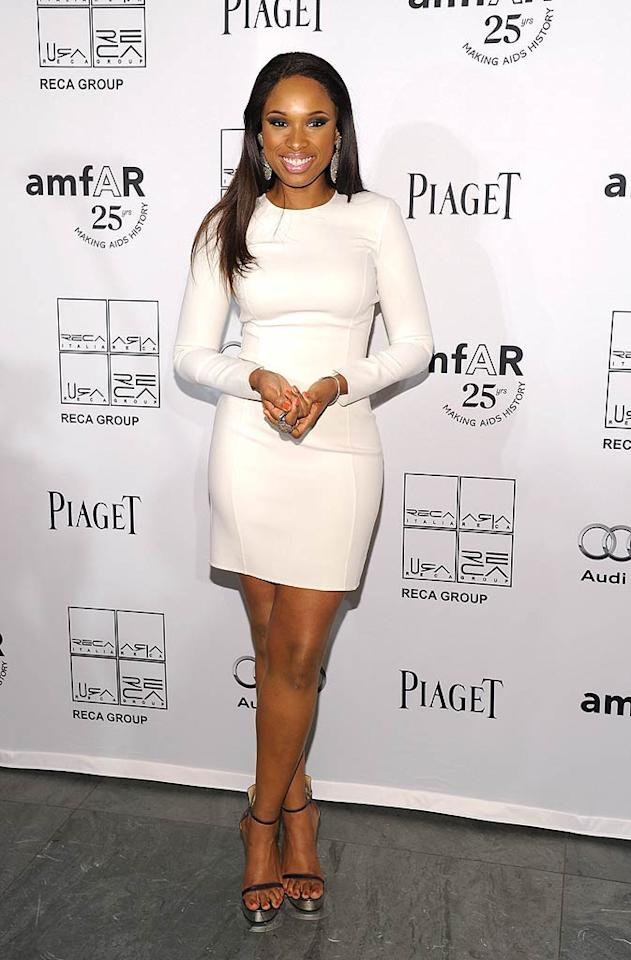 "Jennifer Hudson -- who performed at the event -- showcased her fab physique in a white frock from Michael Kors' Resort 2012 collection. Mike Coppola/<a href=""http://www.wireimage.com"" target=""new"">WireImage.com</a> - June 14, 2011"