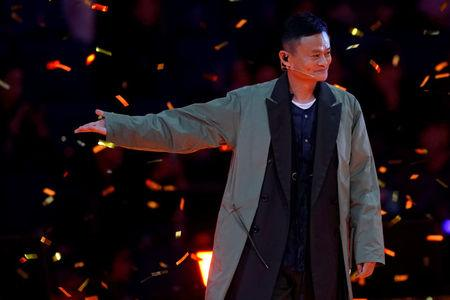 Jack Ma, Chairman of Alibaba Group, attends a show during Alibaba Group's 11.11 Singles' Day global shopping festival in Shanghai, China, November 10, 2017. REUTERS/Aly Song