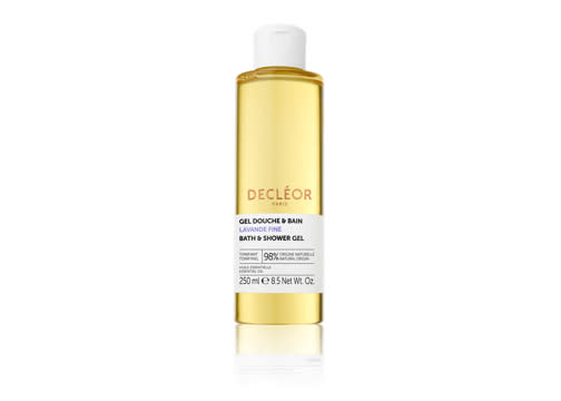 """<p>Decléor has just released three brand new bath and shower oils with 97% natural ingredients – making them gentle on sensitive skin. The perfect excuse for a bath… <a href=""""https://www.decleor.co.uk/lavender-shower-gel"""" rel=""""nofollow noopener"""" target=""""_blank"""" data-ylk=""""slk:Shop now"""" class=""""link rapid-noclick-resp""""><em>Shop now</em></a>. </p>"""