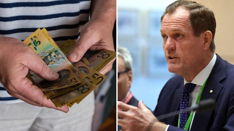 ATO Commissioner Chris Jordan has shone a light on JobKeeper compliance. Images: Getty, AAP/Mick Tsikas.