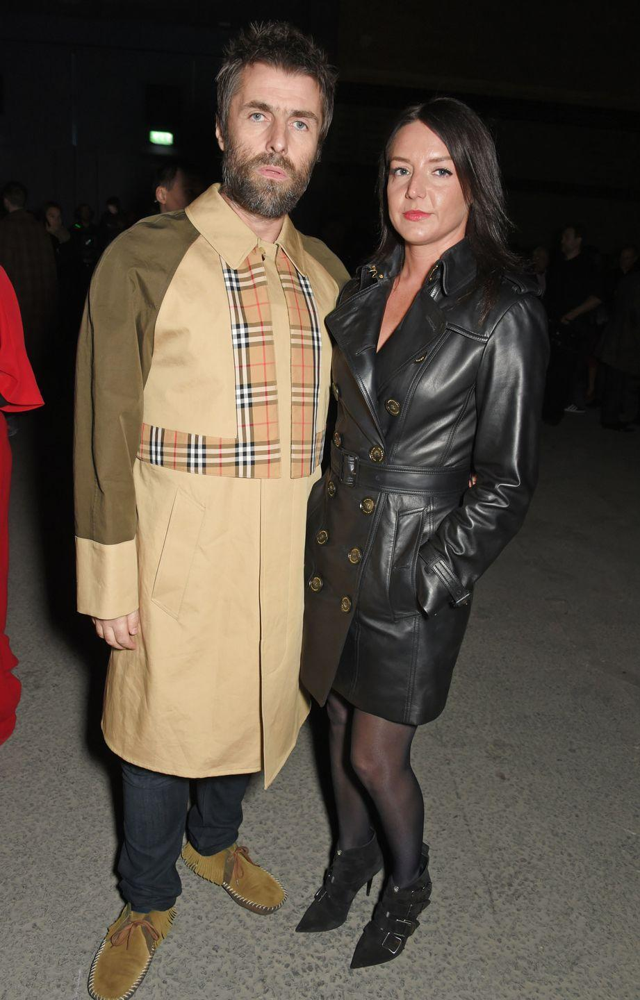 <p>Liam and Debbie Gwyther wearing Burberry at the Burberry February 2018 show during London Fashion Week on February 17, 2018.</p>