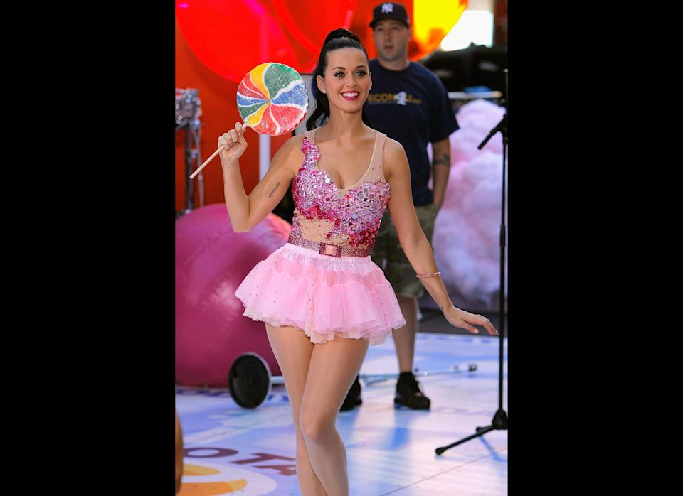 Singer Katy Perry poses for a photo during a taping of  NBC's 'Today' in Rockefeller Center on August 27, 2010 in New York City.  (Photo by Jemal Countess/Getty Images)