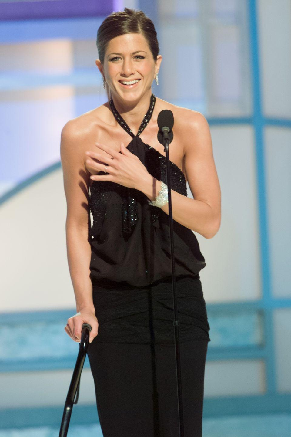 <p><em>Friends </em>also led Jen to a Golden Globe Award in 2003. There is no one more deserving.<br></p>