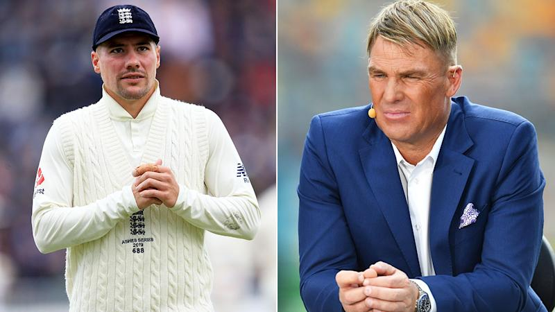 Pictured on the right, Shane Warne has savaged the Rory Burns injury situation.