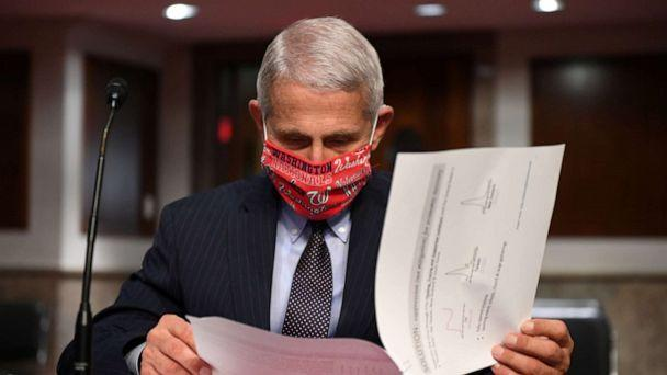 PHOTO: Dr Anthony Fauci, director of the National Institute for Allergy and Infectious Diseases prepares to testify ahead of a Senate Health, Education, Labor and Pensions (HELP) Committee hearing on Capitol Hill in Washington, June 30, 2020. (Kevin Dietsch/Reuters, FILE)