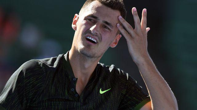 Tomic's tennis career is off the rails. Image: Getty