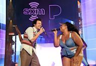 """<p>Who could possibly forget when Harry jumped onstage at a <a class=""""link rapid-noclick-resp"""" href=""""https://www.popsugar.com/Lizzo"""" rel=""""nofollow noopener"""" target=""""_blank"""" data-ylk=""""slk:Lizzo"""">Lizzo</a> concert in Miami to <a href=""""https://www.popsugar.com/entertainment/harry-styles-lizzo-perform-juice-video-47167895"""" class=""""link rapid-noclick-resp"""" rel=""""nofollow noopener"""" target=""""_blank"""" data-ylk=""""slk:sing a &quot;Juice&quot; duet with her"""">sing a """"Juice"""" duet with her</a>? Certainly not us. His outfit for the iconic occasion? A cropped, '70s-esque sweater vest worn with an oversize, untucked button-down and beige trousers, obviously. Only the best for Queen <a class=""""link rapid-noclick-resp"""" href=""""https://www.popsugar.com/Lizzo"""" rel=""""nofollow noopener"""" target=""""_blank"""" data-ylk=""""slk:Lizzo"""">Lizzo</a>.</p>"""