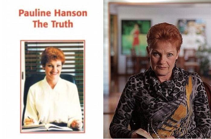 Hanson's book predicted by 2050 Australia would be run by Asian lesbian cyborg.