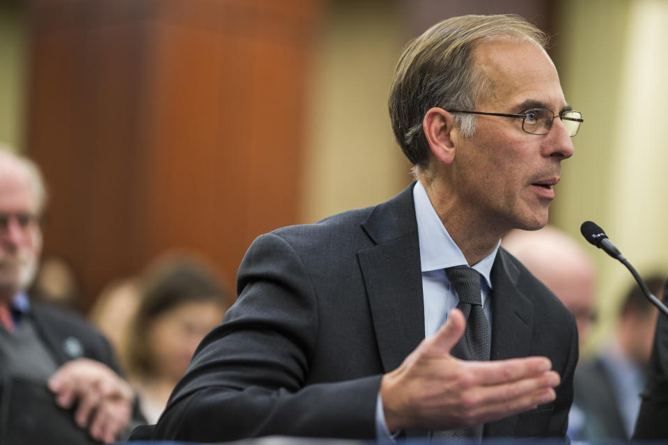 WASHINGTON, DC - DECEMBER 13:  Moody's Analytics Chief Economist Mark Zandi speaks during a forum held by Democratic members of the House Ways and Means Committee discussing Republican tax legislation and the U.S. economy on December 13, 2017 in Washington, DC. (Photo by Zach Gibson/Getty Images)