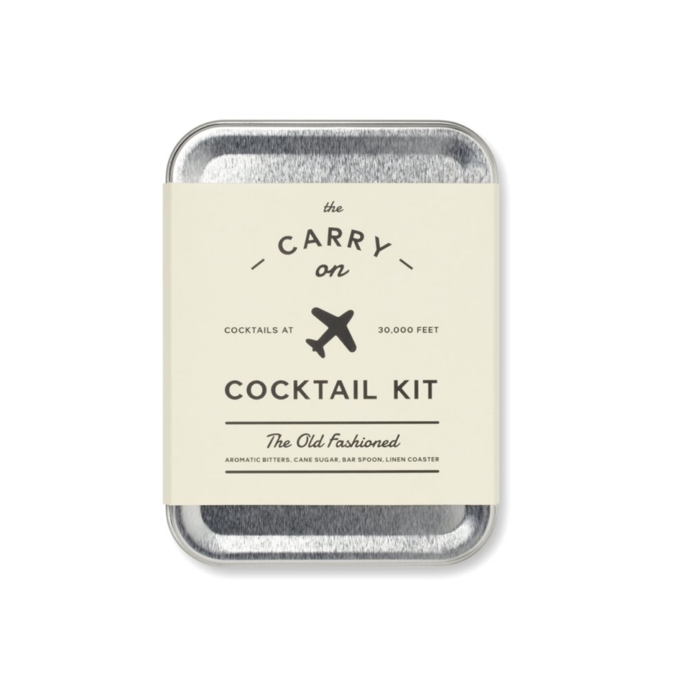 "<p><strong>The Carry on Cocktail Kit</strong></p><p>amazon.com</p><p><a href=""https://www.amazon.com/dp/B076MLKQKS?tag=syn-yahoo-20&ascsubtag=%5Bartid%7C10055.g.28497189%5Bsrc%7Cyahoo-us"" rel=""nofollow noopener"" target=""_blank"" data-ylk=""slk:Shop Now"" class=""link rapid-noclick-resp"">Shop Now</a></p><p>This great gift adds a little luxury to any trip. TSA-approved, and including all of the ingredients for your friend's fave cocktail, this present will help their flight fly by. </p>"