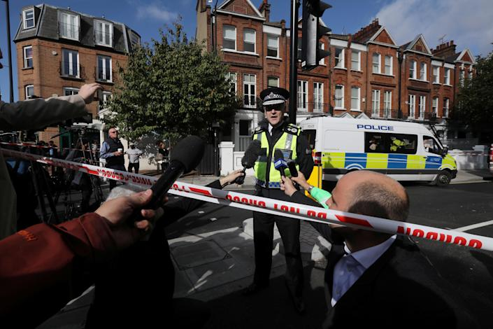 <p>Deputy Chief Constable Adrian Hanstock of the British Transport Police makes a statement to the media after an incident at Parsons Green underground station in London, Britain, Sept. 15, 2017. (Photo: Luke MacGregor/Reuters) </p>