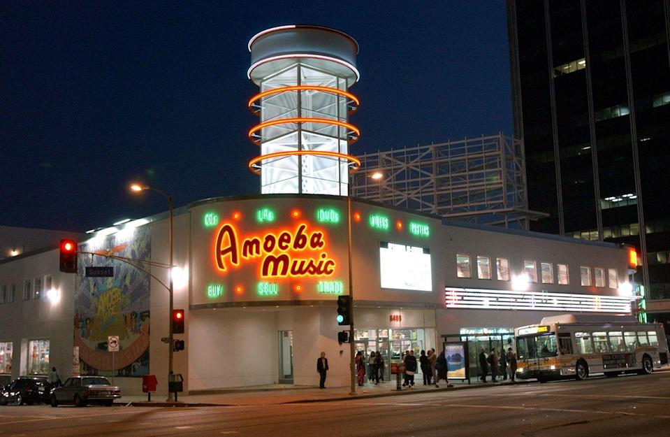 <p>The Los Angeles staple, Amoeba Music, a video and record store, opened its doors in 1990 and has served the Hollywood community for 30 years. </p>