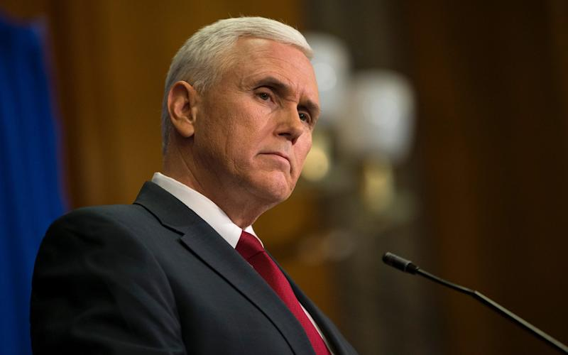 Mike Pence is heading east for talks with South Korea over the developing regional crisis - 2015 Getty Images