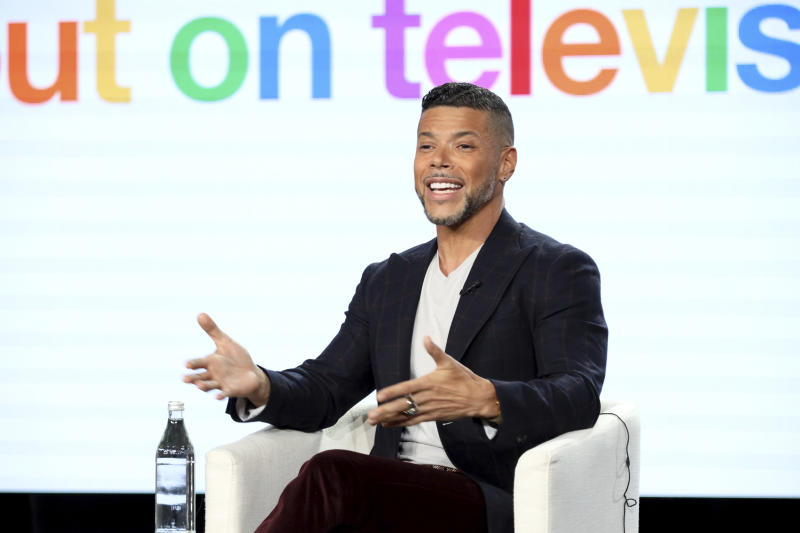 "Wilson Cruz speaks at the ""Visible: Out on Television"" panel during the Apple+ TCA 2020 Winter Press Tour at the Langham Huntington, Sunday, Jan. 19, 2020, in Pasadena, Calif. (Photo by Willy Sanjuan/Invision/AP)"