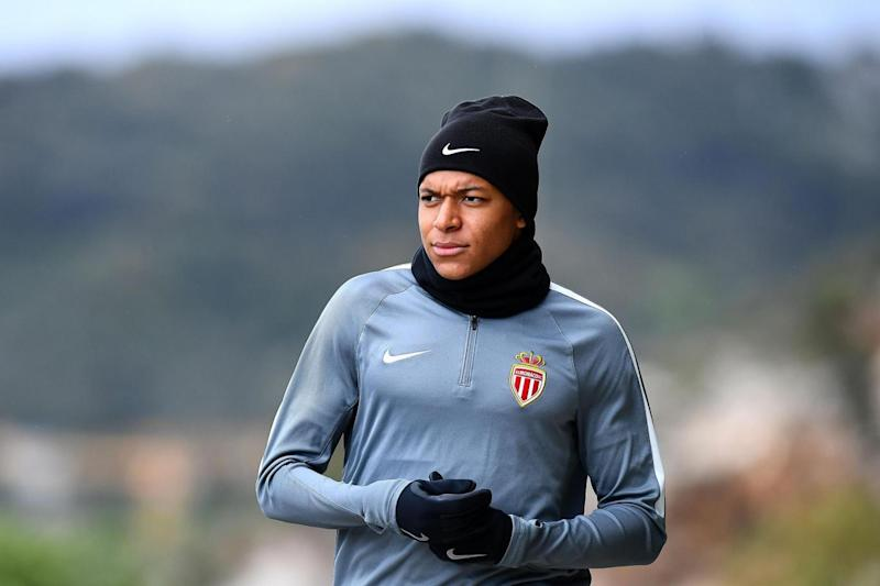 In form: Kylian Mbappe has scored five goals for Monaco in the Champions League this season (AFP/Getty Images)