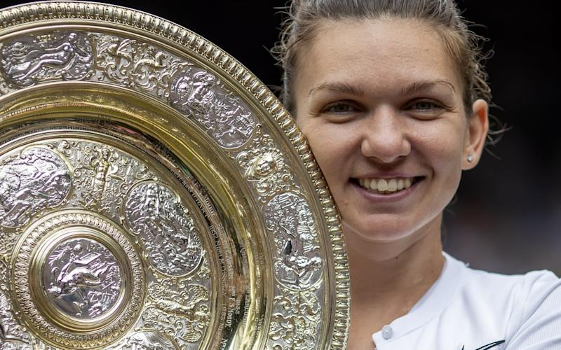 Simona Halep is richer to the tune of £2m after her victory on Saturday - Action Plus