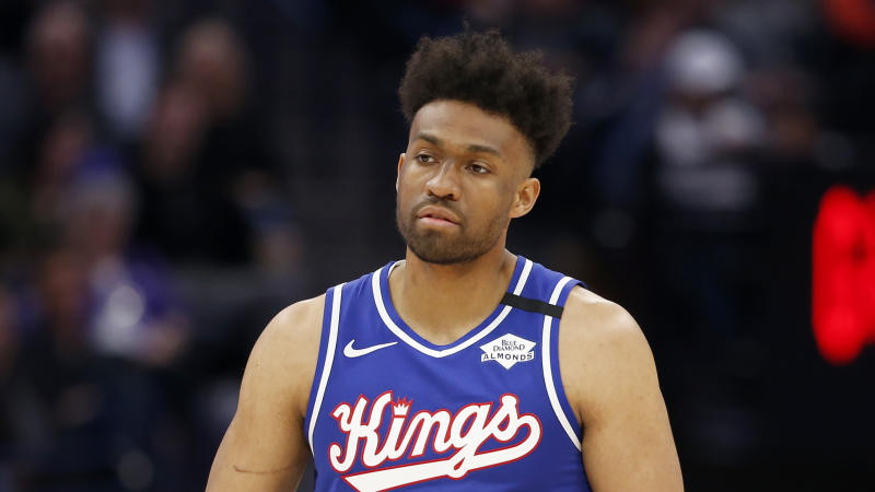 Jabari Parker plans to join the Kings at Disney World after an anticipated recovery from COVID-19. (AP Photo/Rich Pedroncelli)