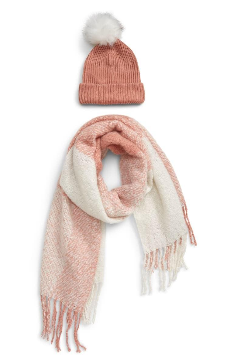 "<p>You can't go wrong giving this <a href=""https://www.popsugar.com/buy/BP-Faux-Fur-Pom-Beanie-amp-Plaid-Scarf-Set-519590?p_name=BP.%20Faux%20Fur%20Pom%20Beanie%20%26amp%3B%20Plaid%20Scarf%20Set&retailer=shop.nordstrom.com&pid=519590&price=39&evar1=savvy%3Aus&evar9=47008593&evar98=https%3A%2F%2Fwww.popsugar.com%2Fsmart-living%2Fphoto-gallery%2F47008593%2Fimage%2F47009415%2FBP-Faux-Fur-Pom-Beanie-Plaid-Scarf-Set&list1=shopping%2Cgifts%2Choliday%2Cchristmas%2Cgift%20guide%2Clast-minute%20gifts&prop13=mobile&pdata=1"" rel=""nofollow noopener"" class=""link rapid-noclick-resp"" target=""_blank"" data-ylk=""slk:BP. Faux Fur Pom Beanie & Plaid Scarf Set"">BP. Faux Fur Pom Beanie & Plaid Scarf Set</a> ($39).</p>"