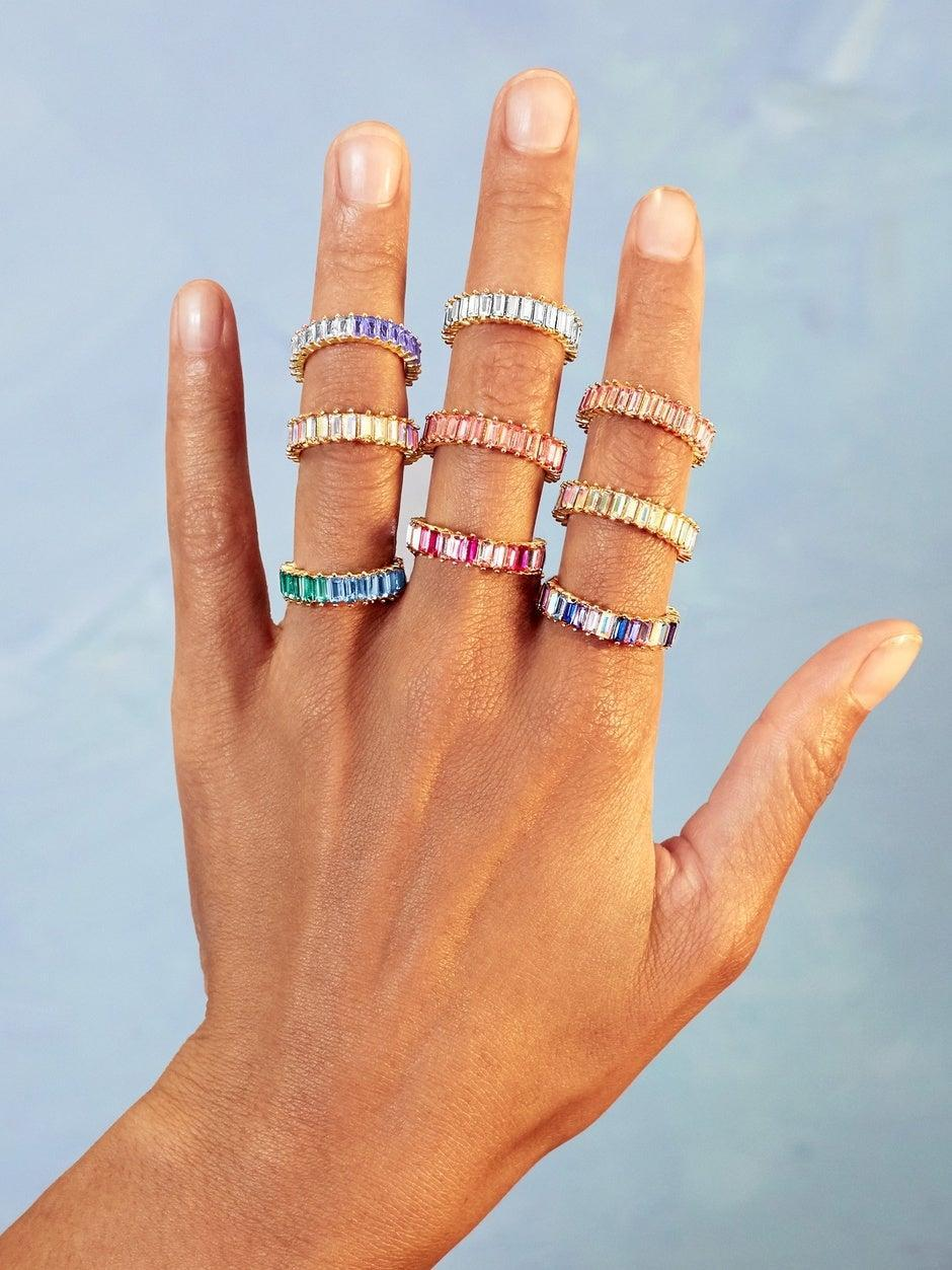"""<h2>74% Off BaubleBar Mini Alidia Ring</h2><br>BaubleBar's bestselling Alidia ring featuring its iconic multicolored stone cluster was a top-bought April gem for two reasons: firstly, it was featured as an <a href=""""https://www.refinery29.com/en-us/what-to-buy-with-100-dollars#slide-12"""" rel=""""nofollow noopener"""" target=""""_blank"""" data-ylk=""""slk:under-$100 MVP"""" class=""""link rapid-noclick-resp"""">under-$100 MVP</a> on the fingers of one of our very own Shopping team members; secondly, it's currently <a href=""""https://www.refinery29.com/en-us/2021/03/10336849/baublebar-semi-annual-sale-2021"""" rel=""""nofollow noopener"""" target=""""_blank"""" data-ylk=""""slk:on super sale for 74% off"""" class=""""link rapid-noclick-resp"""">on super sale for 74% off</a>. Get a handful of these perfectly delicate yet chunky stackers with a sparkle that can be seen from a mile away while they're available for 12 bucks a pretty pop.<br><br>For <strong><a href=""""https://www.baublebar.com"""" rel=""""nofollow noopener"""" target=""""_blank"""" data-ylk=""""slk:20% off BaubleBar sitewide"""" class=""""link rapid-noclick-resp"""">20% off BaubleBar sitewide</a></strong> use promo code <strong>BB20 </strong>at checkout.<br><br><em>Shop <strong><a href=""""https://www.baublebar.com/category/rings/alidia.html"""" rel=""""nofollow noopener"""" target=""""_blank"""" data-ylk=""""slk:BaubleBar"""" class=""""link rapid-noclick-resp"""">BaubleBar</a></strong></em><br><br><strong>BaubleBar</strong> Mini Alidia Ring, $, available at <a href=""""https://go.skimresources.com/?id=30283X879131&url=https%3A%2F%2Fwww.baublebar.com%2Fproduct%2F52020-mini-alidia-ring-1"""" rel=""""nofollow noopener"""" target=""""_blank"""" data-ylk=""""slk:BaubleBar"""" class=""""link rapid-noclick-resp"""">BaubleBar</a>"""