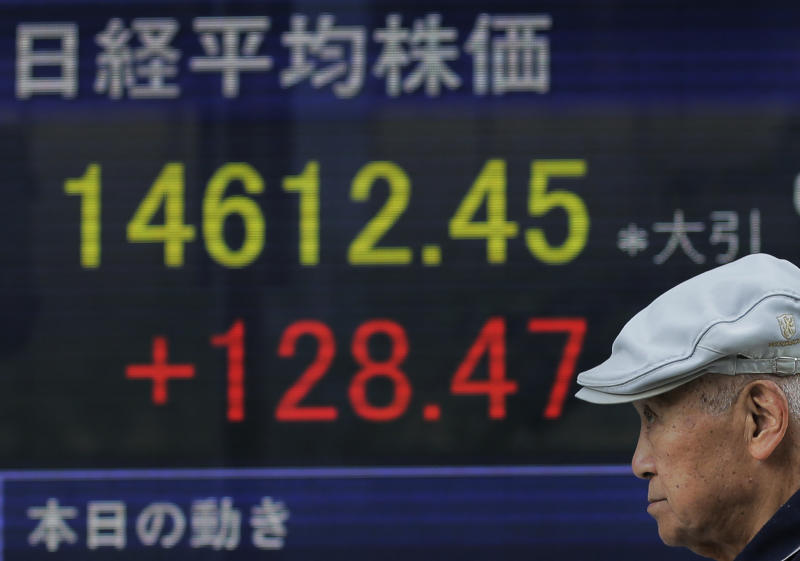World stocks lower after big sell-off