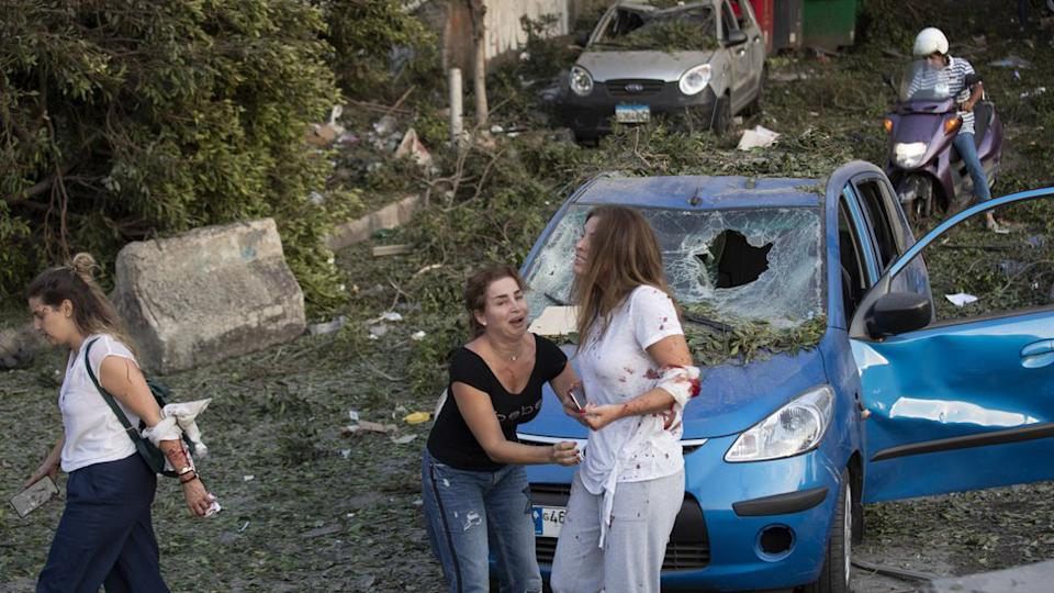 people injured in the Beirut explosion