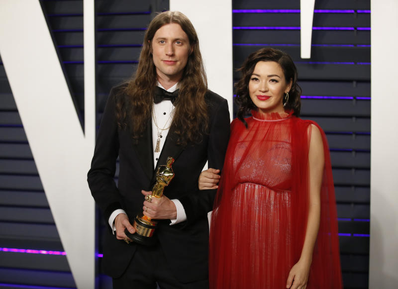 91st Academy Awards – Vanity Fair – Beverly Hills, California, U.S., February 24, 2019 – Producer Ludwig Göransson with his Best Original Score award for 'Black Panther'. REUTERS/Danny Moloshok