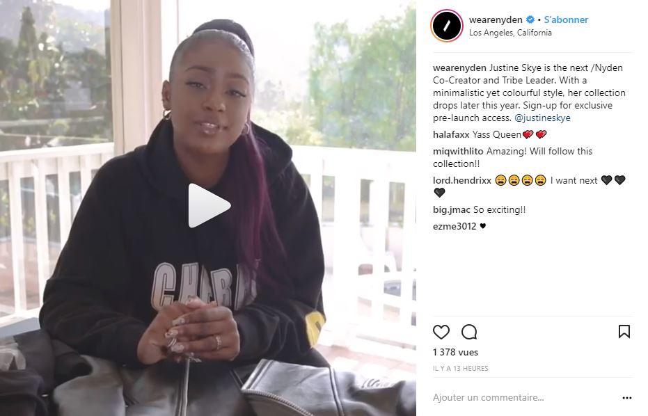 Justine Skye is the latest /Nyden co-creator to work on a fashion line with the brand